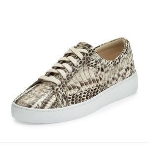 Valin runway Snake lace up sneakers